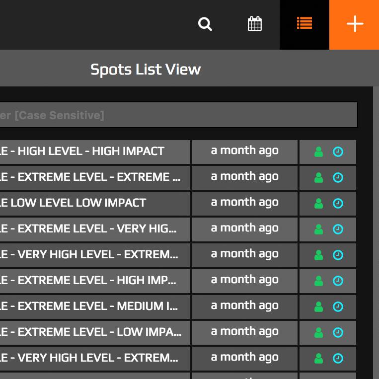 Spot List View